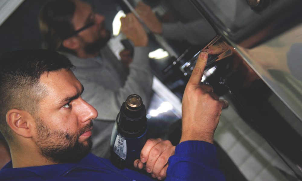 VW Caddy ARGO dachy folia polimerowa ploterowa projekt wycinanka 8