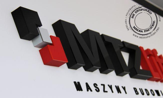 logo przestrzenne MTZLIFT styrodur plexi 2
