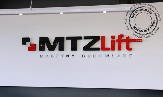 logo przestrzenne MTZLIFT styrodur plexi 4
