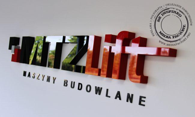 logo przestrzenne MTZLIFT styrodur plexi 5