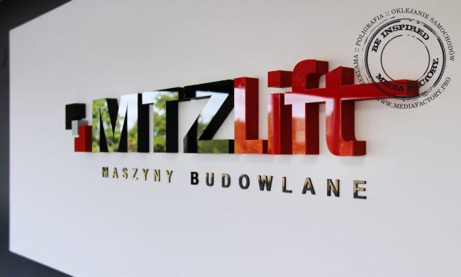 logo przestrzenne MTZLIFT styrodur plexi 6