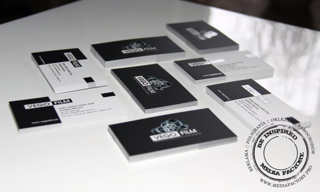 wizytowki VEGO FILM  folia mat lakier wybórczy punktowy UV czarno białe 5