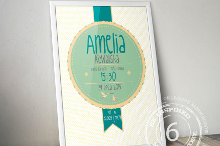 Personalized birthday certificate
