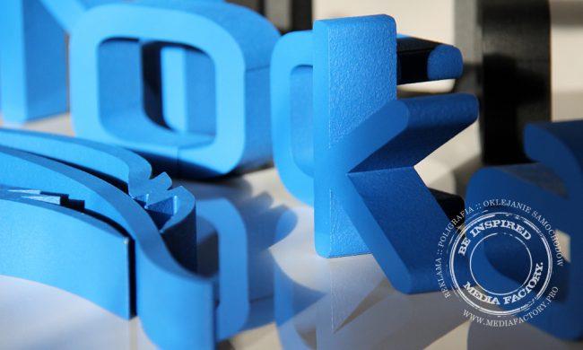 litery ze styroduru farba Fluger Dobra Nocka logotyp 6