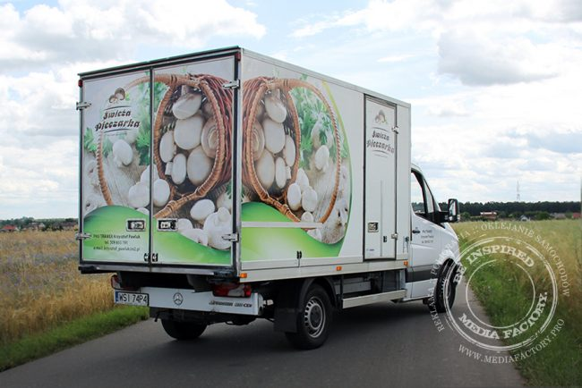 Mercedes Sprinter Swieza Pieczarka folia polimerowa laminat projekt ploter 3