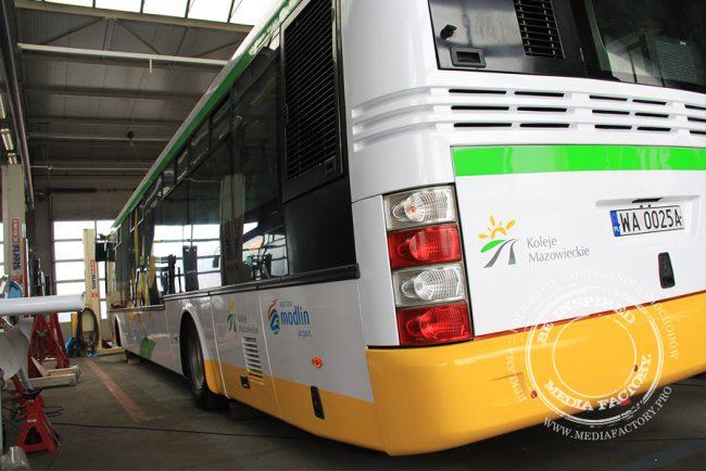 autobus Arriva koleje mazowieckie folia polimerowa wycinana ploterowo oklejanie 13