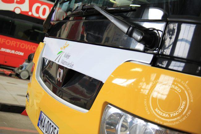 autobus Arriva koleje mazowieckie folia polimerowa wycinana ploterowo oklejanie 14