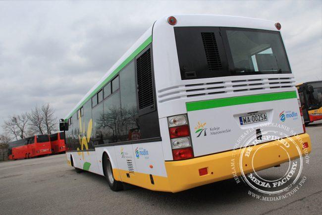 autobus Arriva koleje mazowieckie folia polimerowa wycinana ploterowo oklejanie 2