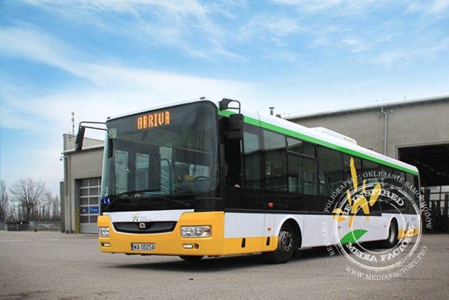 autobus Arriva koleje mazowieckie folia polimerowa wycinana ploterowo oklejanie 3