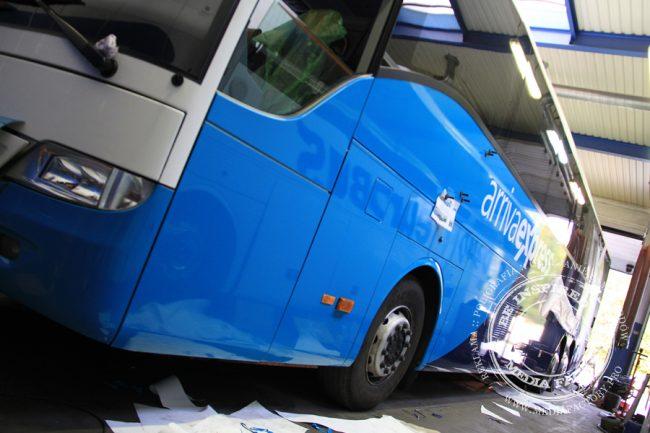 Arriva autobus Mercedes Tourismo folia wylewana do zmiany koloru auta oklejanie 1