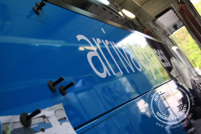 Arriva autobus Mercedes Tourismo folia wylewana do zmiany koloru auta oklejanie 2