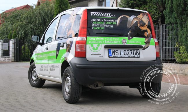 Fiat Panda Pawart folia polimerowa wycinaka ploterowa 3
