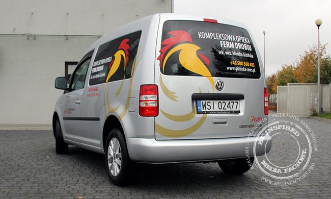 VW Caddy AVES weterynarz polimerowa folia ploterowa wycinanka 3