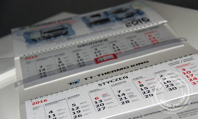 kalendarze trojdzielne spiralowane karton kreda folia mat okienko kalenadrium koperta z okienkiem 3