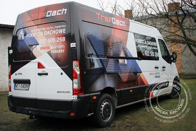 Opel Movano Traf Dach folia polimerowa laminat projekt ploter 4