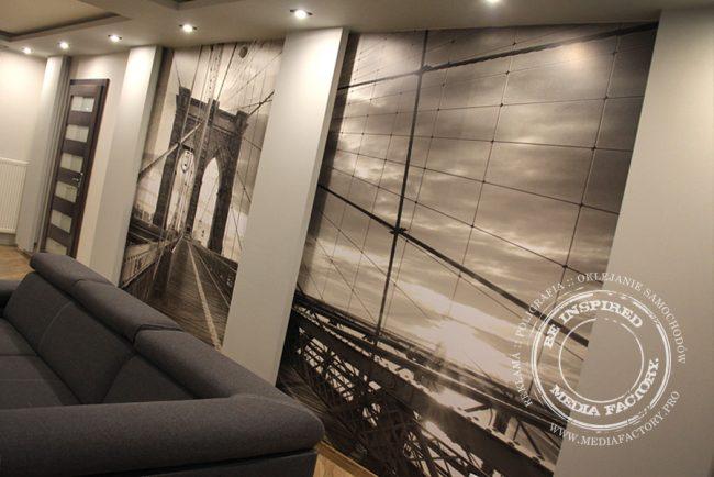 tapeta folia z laminatem projekt oklejanie most Brooklyn 1
