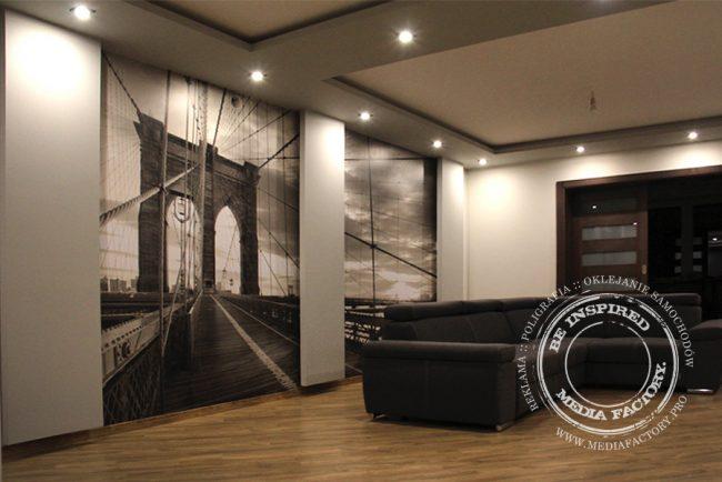 tapeta folia z laminatem projekt oklejanie most Brooklyn 2