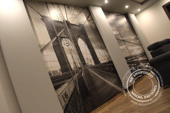 tapeta folia z laminatem projekt oklejanie most Brooklyn 3