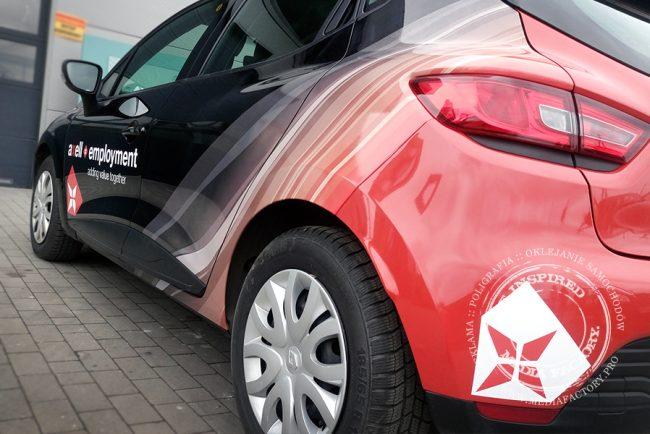 Renault Clio AXELL folia polimerowa ploterowa druk oklejanie wycinanka 1