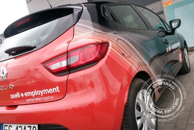 Renault Clio AXELL folia polimerowa ploterowa druk oklejanie wycinanka 2