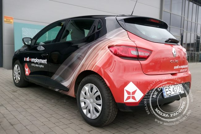 Renault Clio AXELL folia polimerowa ploterowa druk oklejanie wycinanka 3