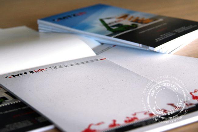 notes A5 MTZ Lift 50 kartek z nadrukiem z okladka klejony 3