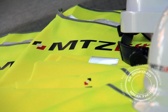 kamizelki odblaskowe z nadrukiem MTZ