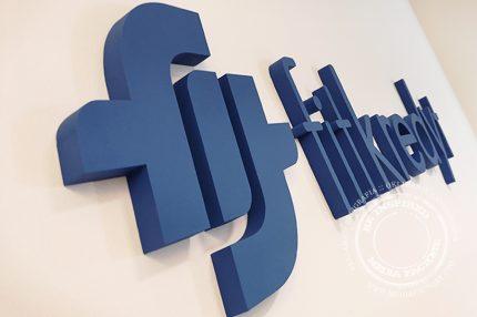 Logotyp 3D ze styroduru