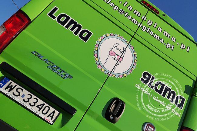 Lama Glama – Fiat Ducato oklejanie samochodow busow dostawczych projekt grafika dla dzieci