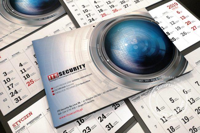 kalendarze scienne trojdzielne – ITS projekt grafika design druk