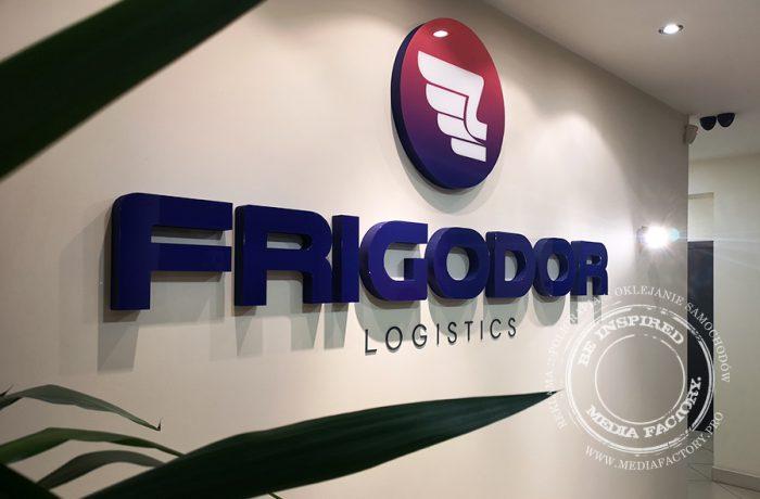 Logotyp 3D ze styroduru – Frigodor